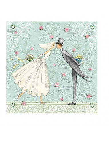 Servilleta novia y novio
