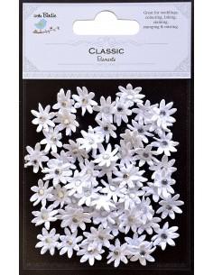 PEGATINAS PARA SCRAP MICRO FLOWERS WHITE