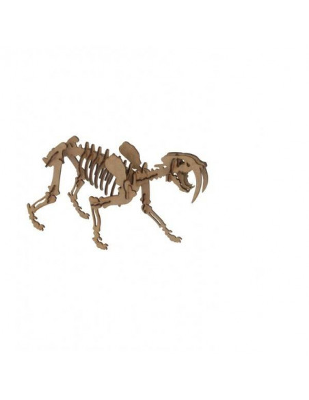 MAQUETA SMILODON DE MADERA POCKET
