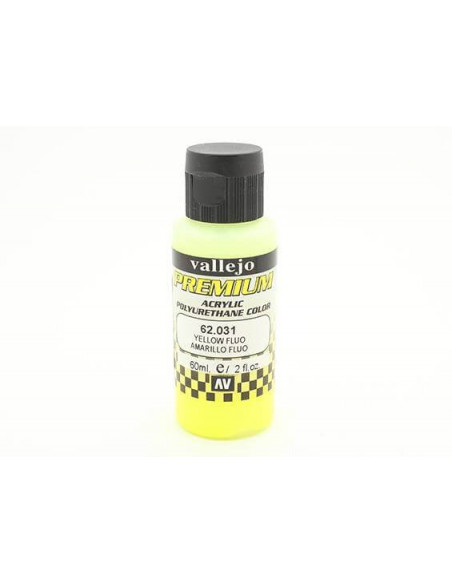 PREMIUM COLOR 60 ML PARA AERÓGRAFO AMARILLO FLUO