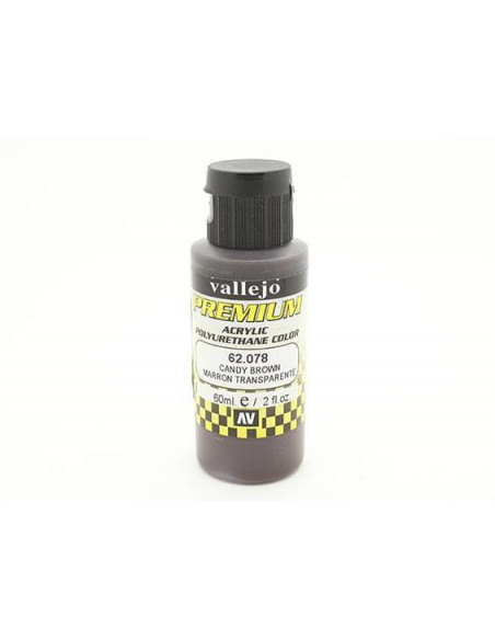 PINTURA PARA AERÓGRAFO DE 60 ML PREMIUM AIRBRUSH DE VALLEJO COLOR MARRÓN CANDY