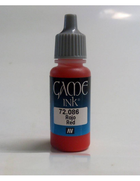 PINTURA ACRÍLICA GAME COLOR DE 17 ML MARCA VALLEJO E IDEAL PARA FIGURAS DE FANTASÍA COLOR ROJO