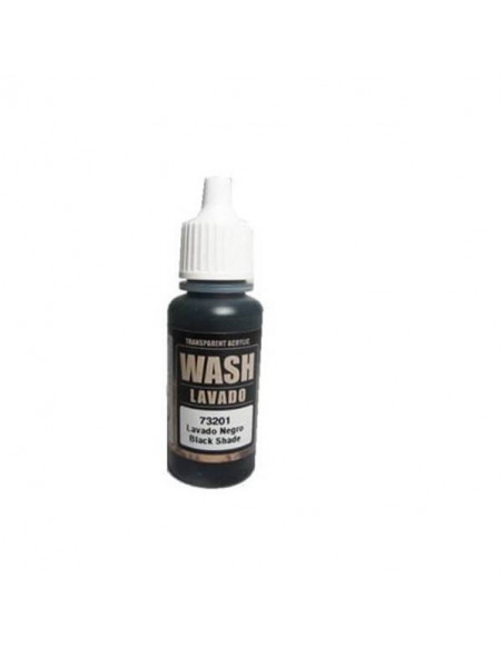 PINTURA ACRÍLICA WASH GAME COLOR DE 17 ML MARCA VALLEJO COLOR NEGRO