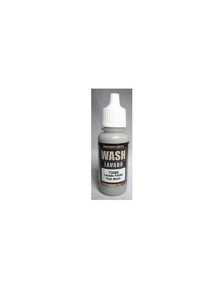 PINTURA ACRÍLICA WASH GAME COLOR DE 17 ML MARCA VALLEJO COLOR GRIS PÁLIDO