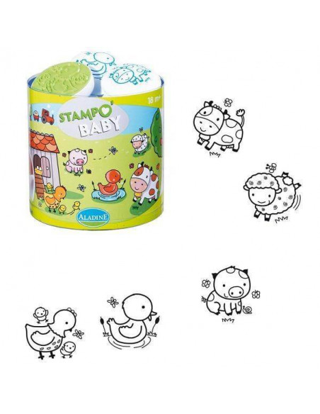 SELLOS STAMPO BABY LAVABLE GRANJA