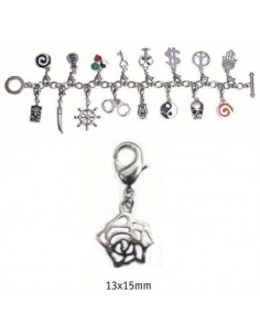 CHARMS CON CIERRE DE COLOR PLATA BLISTER 2 UND ROSA PLATA 13X15MM