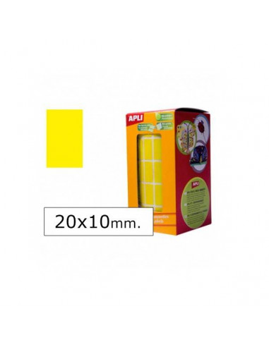 GOMETS RECTANGULARES 20X10MM AMARILLO