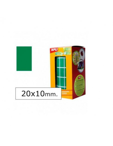 GOMETS RECTANGULARES 20X10MM VERDE