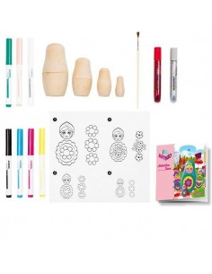 KIT DE DECORACION CON MANUALIDADES ART KIDS MATRIOSKAS RUSAS