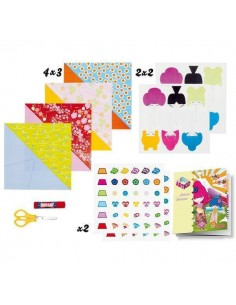 KIT DE DECORACION Y MANUALIDADES MINI ART KIDS MUÑECAS JAPONESAS CON ORIGAMI