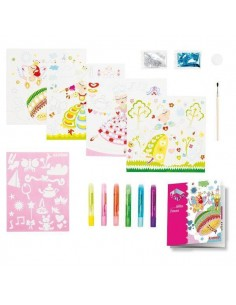 KIT DE DECORACION Y MANUALIDADES MINI ART KIDS GLITTER PRINCESS