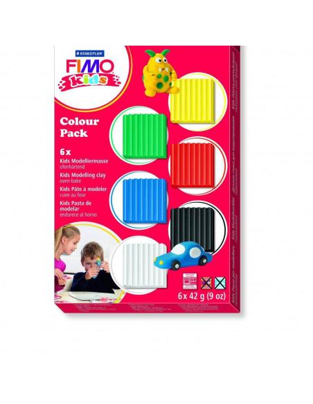 ESTUCHE DE FIMO KIDS CON 6 PASTAS DE MODELAR DE 42GR