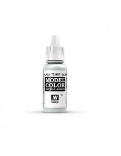 COLORES PARA MODELISMO MODELCOLOR METALLIC COLOR PLATA (171) 17ML.