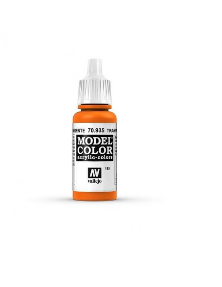 PINTURA MODELCOLOR TRANSPARENTE COLOR NARANJA (185) 17ML.