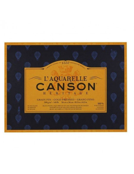 BLOCK DE ACUARELAS CANSON HERITAGE 300GR 23x31CM