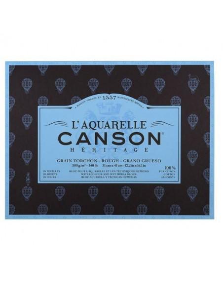 PAPELES CANSON HERITAGE PARA ACUARELAS 300GR 36x51CM