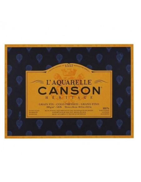 PAPELES CANSON HERITAGE PARA ACUARELAS 300GR 18X26CM