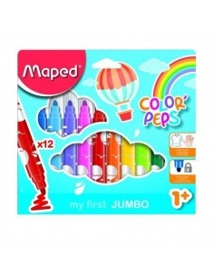ROTULADOR BEBE COLOR PEPS EARLY AGE JUMBO 12 UND