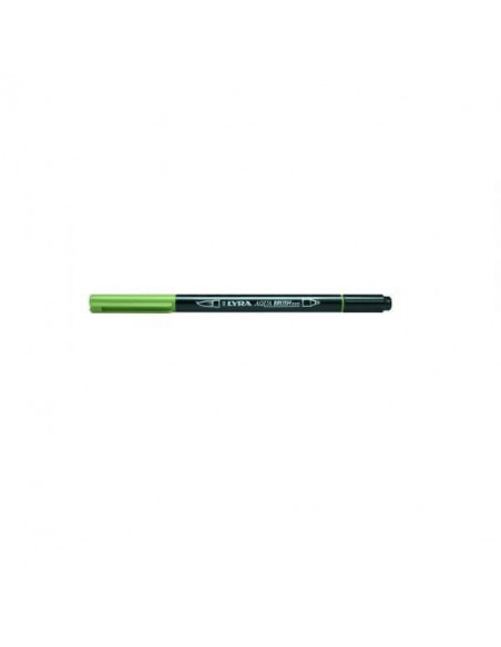 ROTULADOR DOBLE PUNTA LYRA AQUA BRUSH COLOR VERDE MUSGO