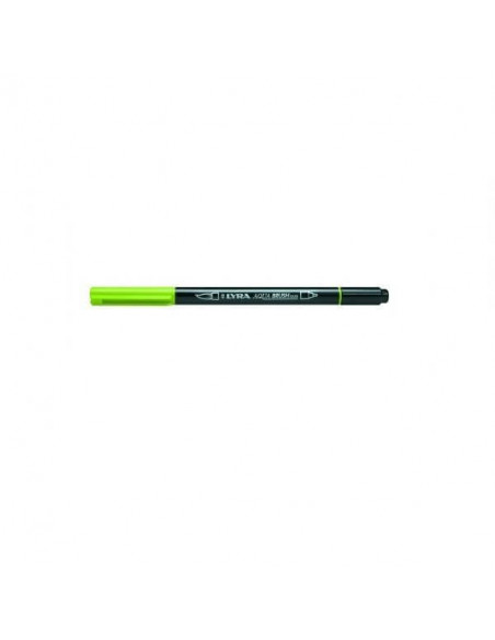 ROTULADOR DOBLE LYRA AQUA BRUSH DUO COLOR VERDE MANZANA