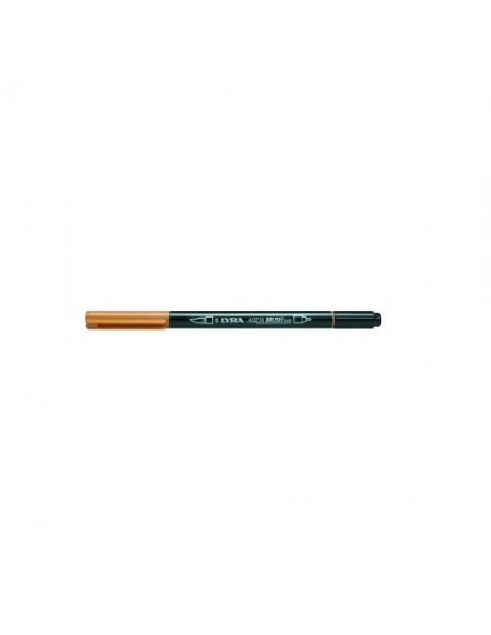 ROTULADORES DE DOBLE PUNTA LYRA AQUA BRUSH DUO OCRE DORADO
