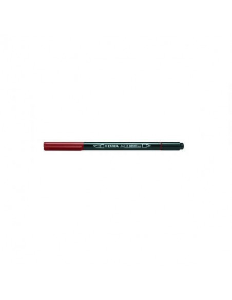 ROTULADORES DE DOBLE PUNTA LYRA AQUA BRUSH DUO COLOR ROJO VENECIA