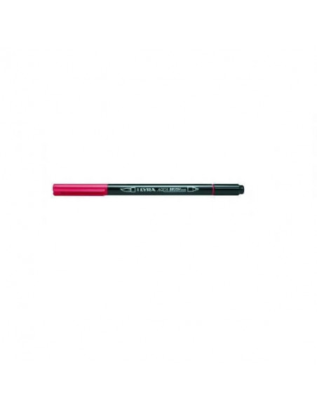 ROTULADORES DOBLE PUNTA LYRA AQUA BRUSH DUO COLOR ROJO POMPEYA