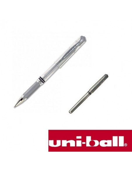 BOLIGRAFO UNIBALL SIGNO BROAD 1.0 MM COLOR PLATA