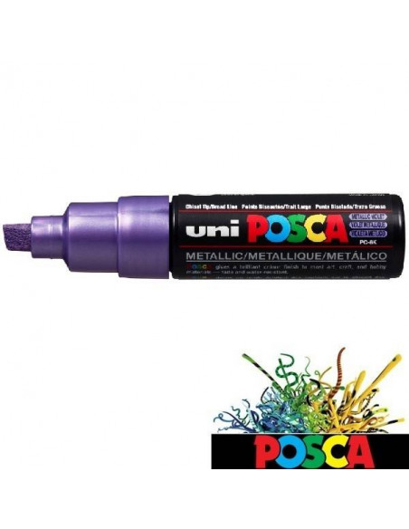 ROTULADOR POSCA DE 8MM A BASE DE AGUA COLOR VIOLETA METÁLICO
