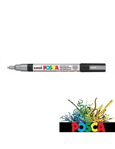 POSCA UNI-BALL DE 0.9-1.3 MM ROTULADOR PLATA