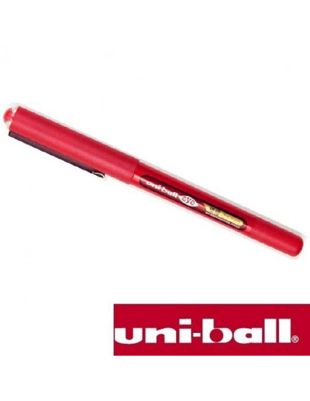 BOLÍGRAFO UNI-BALL EYE ULTRA MICRO DE 0.38 MM COLOR ROJO