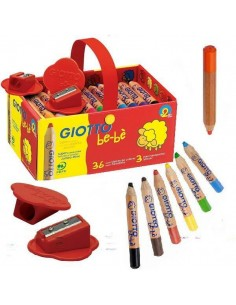 SUPER LAPICES SCHOOL SET 36 UNDS + 3 SACAPUNTAS LINEA GIOTTO BE-BE
