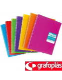 CARPETA DE 30 FUNDAS MAXIPLÁS TRANSPARENTE COLOR FUCSIA