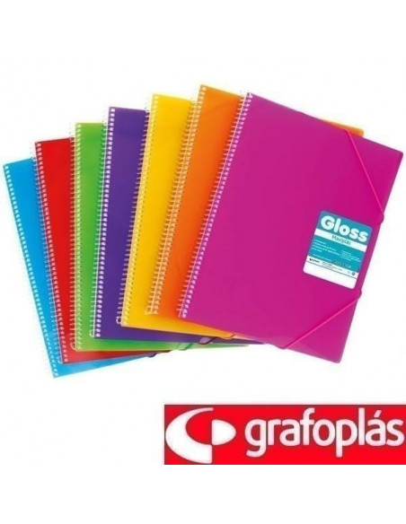 CARPETA DE 50 FUNDAS MAXIPLÁS TRANSPARENTE COLOR ROJO