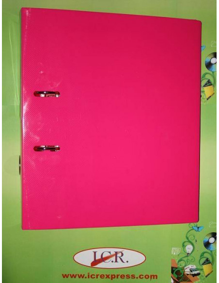 CARPETA ESCOLAR A4 CON 4 TALADROS EN POLIPROPILENO HIGH QUALITY COLOR ROSA