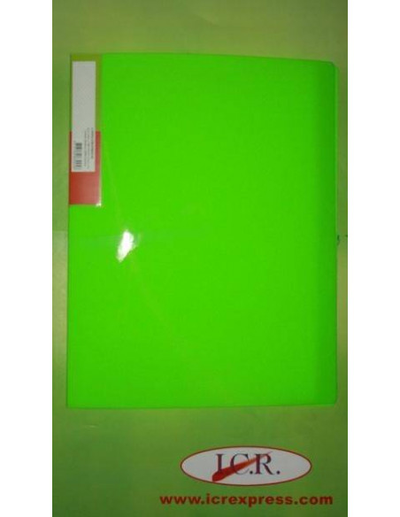 CARPETA A4 CON 40 FUNDAS EN POLIPROPILENO ICR HIGHT QUALITY COLOR VERDE