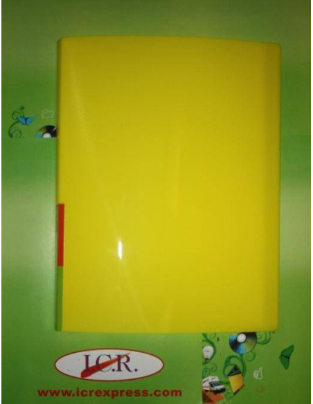 CARPETA A4 CON 40 FUNDAS EN POLIPROPILENO ICR HIGHT QUALITY COLOR AMARILLO