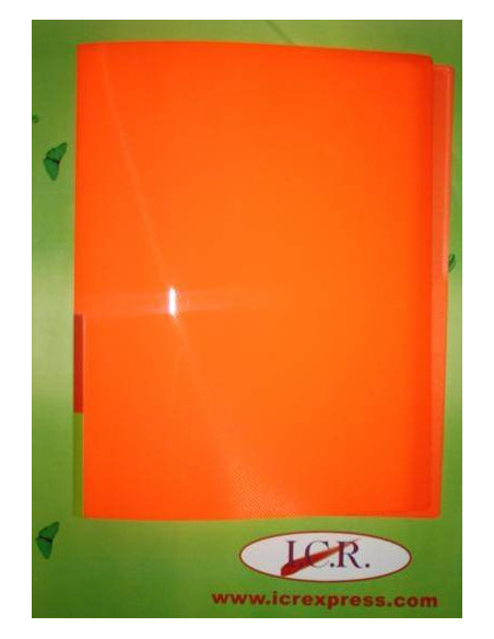 CARPETA DE FUNDAS A4 CON 20 FUNDAS ICR HIGHT QUALITY COLOR NARANJA