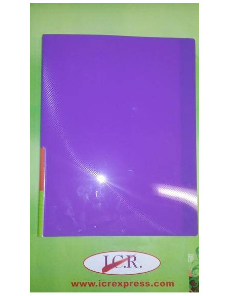 CARPETA DE FUNDAS A4 CON 20 FUNDAS ICR HIGHT QUALITY COLOR PURPURA