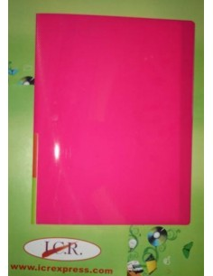 CARPETA DE FUNDAS A4 CON 20 FUNDAS ICR HIGHT QUALITY COLOR ROSA