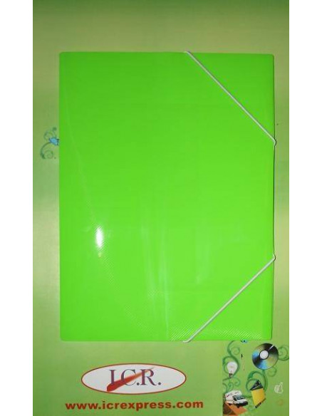 CARPETA A4 DE POLIPROPILENO RAYADO CON GOMAS HIGH QUALITY COLOR VERDE