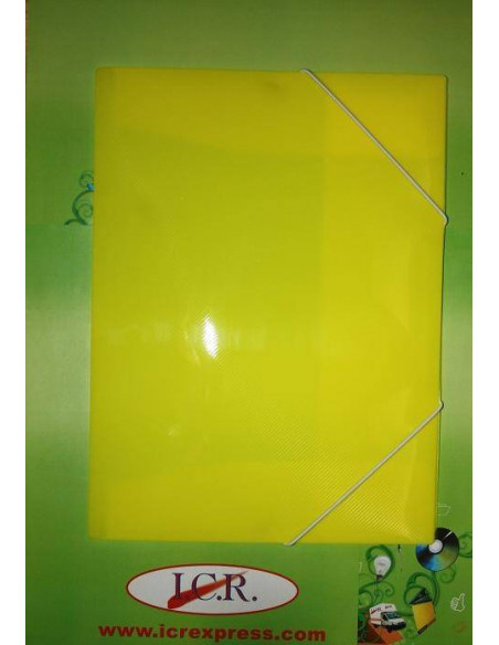 CARPETA A4 DE POLIPROPILENO RAYADO CON GOMAS HIGH QUALITY COLOR AMARILLO