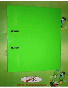 ARCHIVADOR DE 75MM EN A4 DE FOAM Y POLIPROPILENO HIGH QUALITY CON RADO COLOR VERDE