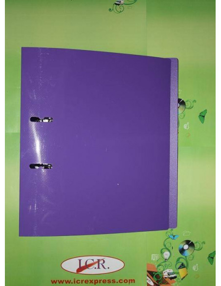 ARCHIVADOR DE 75MM EN A4 DE FOAM Y POLIPROPILENO HIGH QUALITY CON RADO COLOR PURPURA