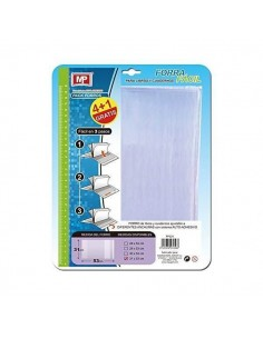 FORRO AJUSTABLE PARA LIBROS  EXPRESS 31CM PACK 5 UND MP