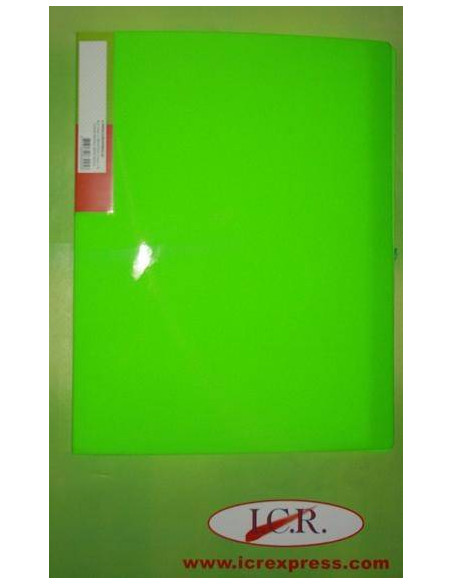 CARPETA DE FUNDAS A4 CON 20 FUNDAS ICR HIGHT QUALITY COLOR VERDE