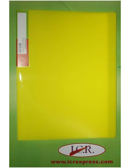 CARPETA DE FUNDAS A4 CON 20 FUNDAS ICR HIGHT QUALITY COLOR AMARILLO