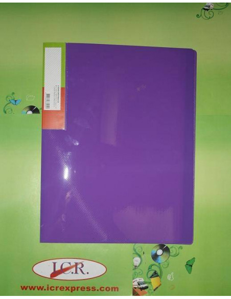 CARPETA A4 CON 40 FUNDAS EN POLIPROPILENO ICR HIGHT QUALITY COLOR PURPURA