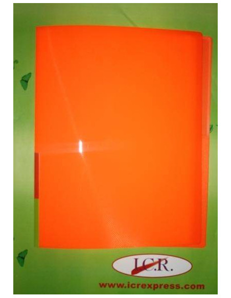 CARPETA A4 CON 40 FUNDAS EN POLIPROPILENO ICR HIGHT QUALITY COLOR NARANJA