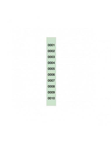 TIRA RIFA  150x30 MM DE 1 AL 1000 MICROPERFORADAS